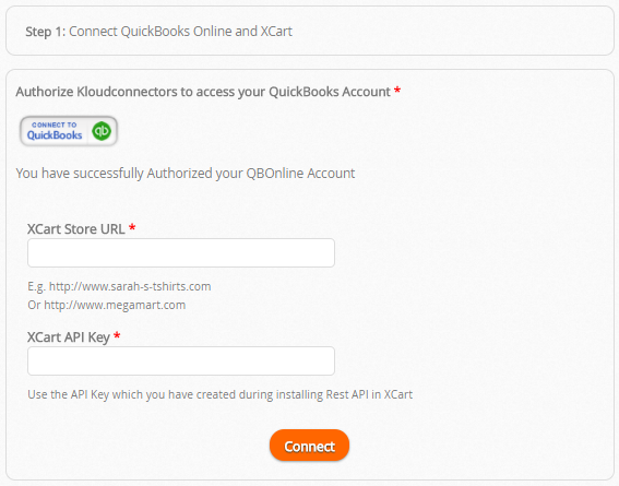 X-Cart to QuickBooks Online Connector