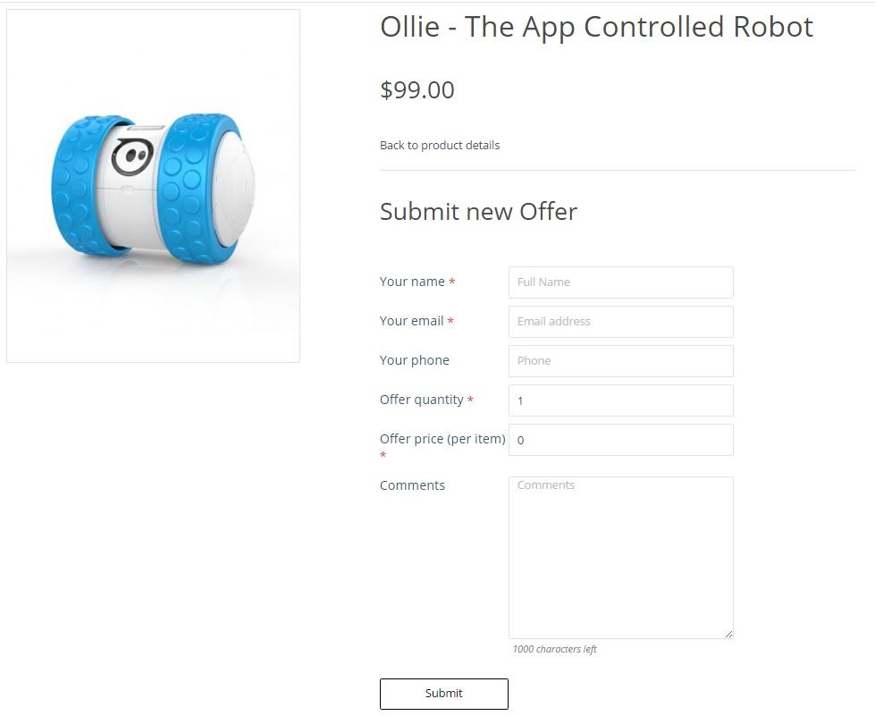 Make An Offer App >> Make An Offer
