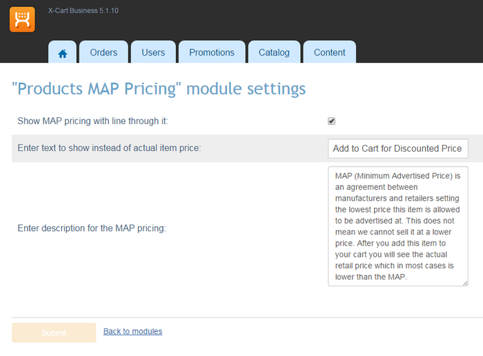 Products MAP Pricing - Map minimum advertised price