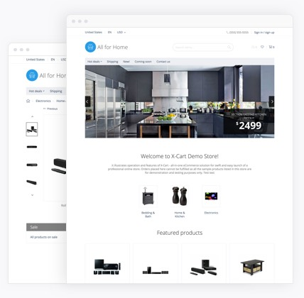 ecommerce website templstes for home