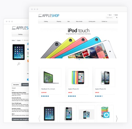 Apple store  website templates