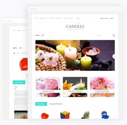 Candles eCommerce website templates