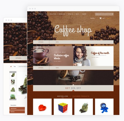 Coffee eCommerce website templates