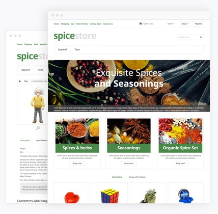 Grocery eCommerce website templates