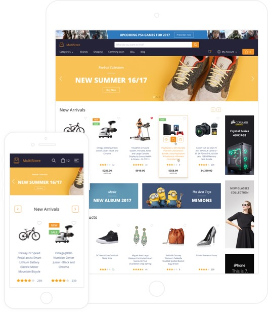 Responsive Ecommerce Templates For High Converting Websites - Responsive shopping cart template