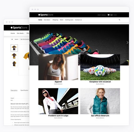 Sport Clothes eCommerce website templates