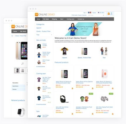Classic eCommerce website templates