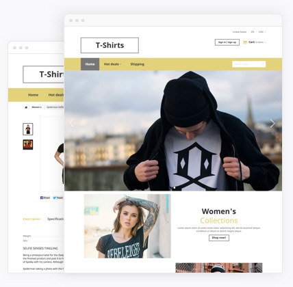 Clothing & Fashion Ecommerce Website Templates