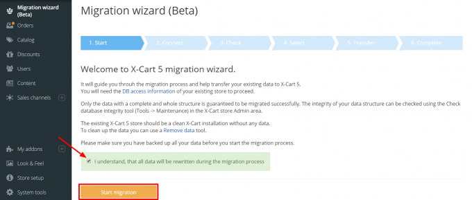 X-Cart v4 to v5 Data Migration Wizard