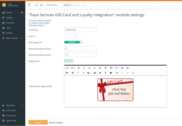 Paya Services Gift Card and Loyalty Integration