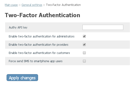 Two-Factor Authentication for v4