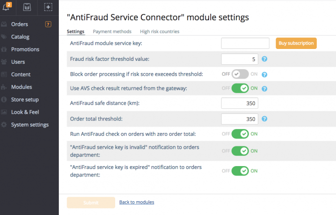 AntiFraud Service Connector