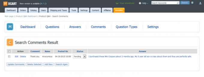 Product Q&A for v4
