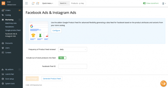 Facebook Ads and Instagram Ads