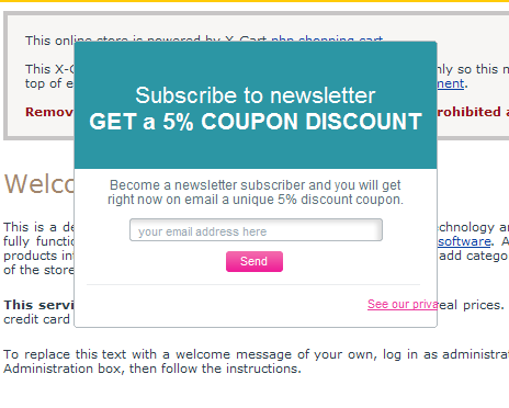 X-Cart Newsletter Subscription Booster