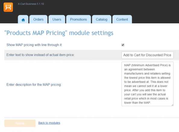 Products MAP Pricing