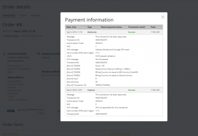 X-Payments Cloud connector