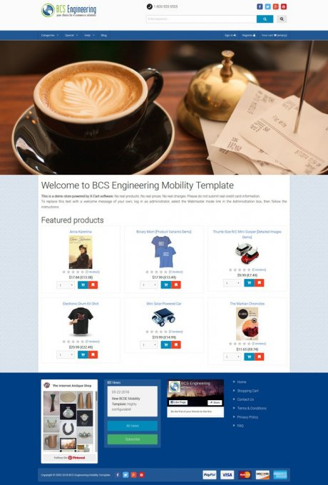 Mobility Template - Responsive template