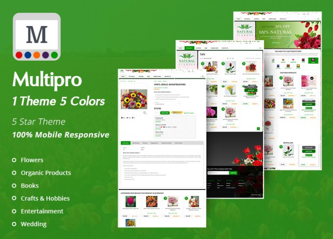 MultiPro Theme : Multi Colours & Multi Industries , 200+ Downloaded