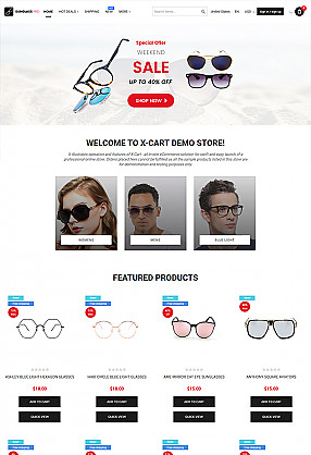 Sunglass Pro - online store to sell glasses, sunglass, eyewear