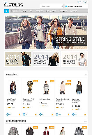 fashion website templates for selling clothes online