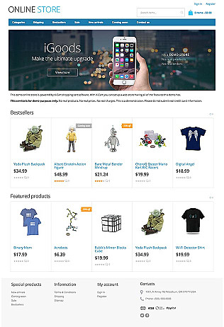 816aa1badb Electronic Store Website Templates   Ecommerce Examples